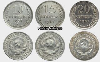 Стоимость серебряных монет СССР