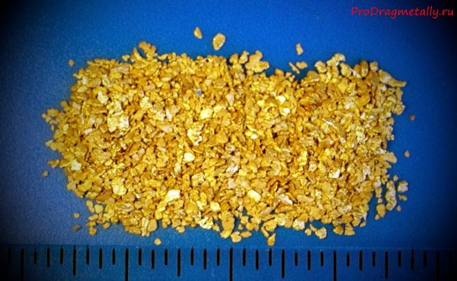 Несколько граммов золота
