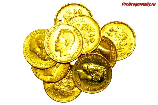 Золотые старинные монеты