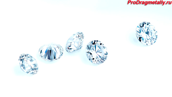 Бриллианты с ровными гранями