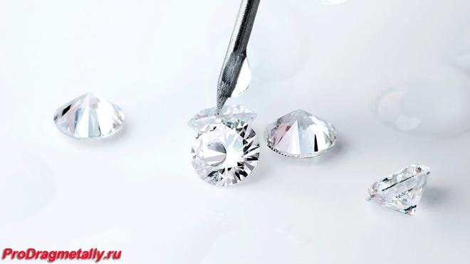 Капля воды на бриллианте не растекается
