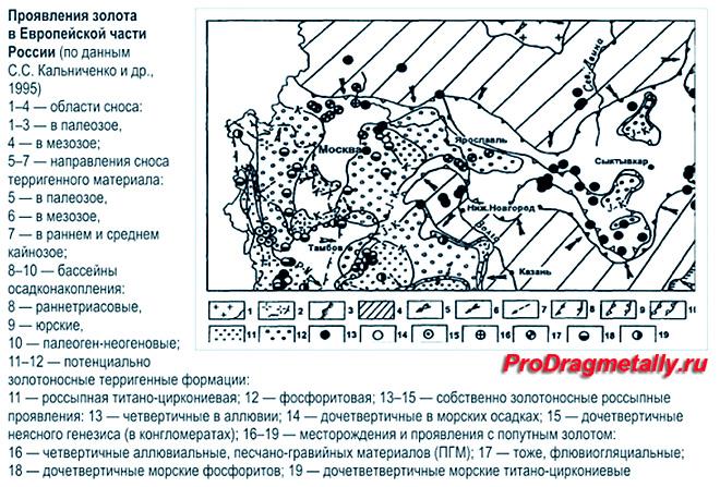 Появление золота в Европейской части России