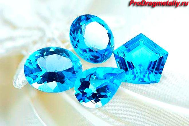 Голубой топаз