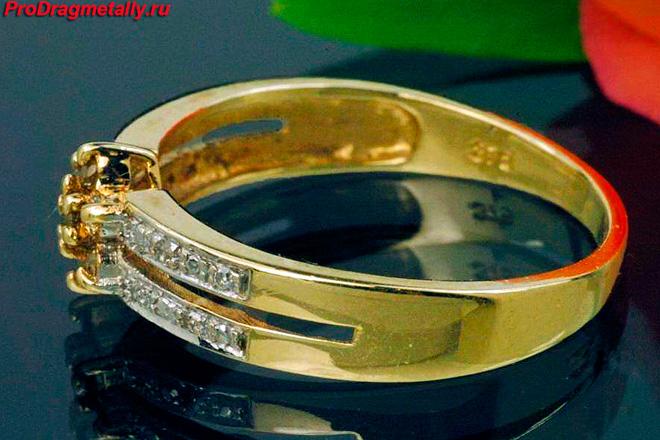 Кольцо с бриллиантами 375 пробы