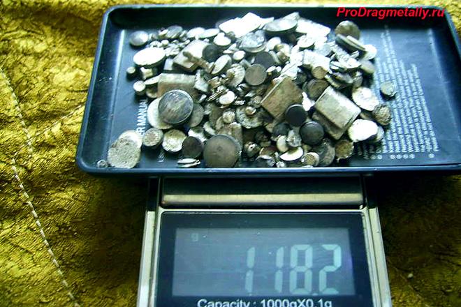 Техническое серебро на весах