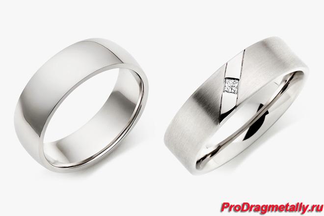 Обручальные кольца из палладия