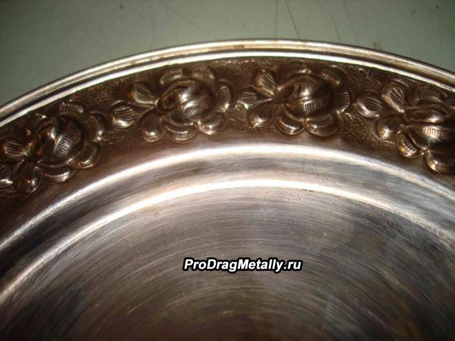 Тарелка из серебра