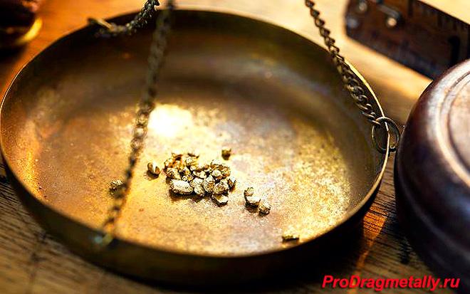 Золота на весах