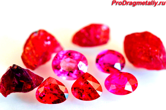 Камни рубина