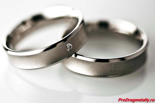 Обручальные платиновые кольца