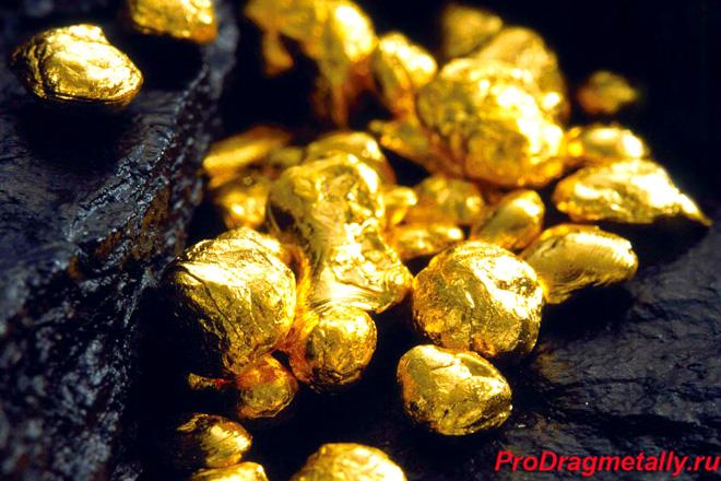 Гранулы золота