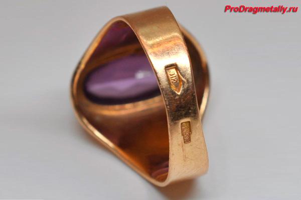 женское золотое кольцо 583 пробы