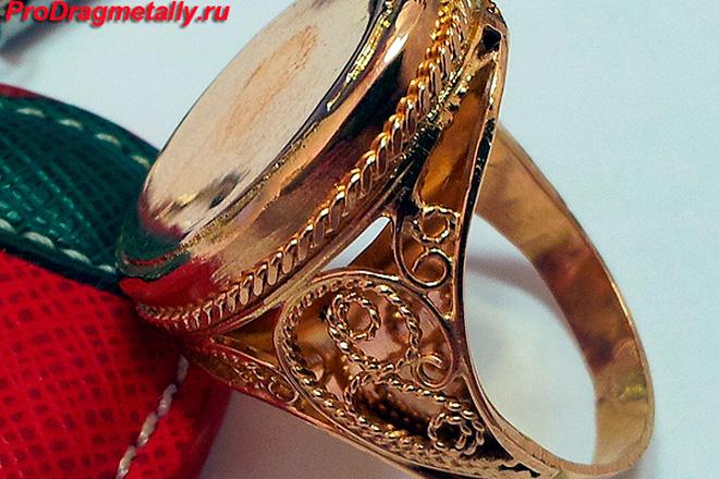 Подделка золотого кольца
