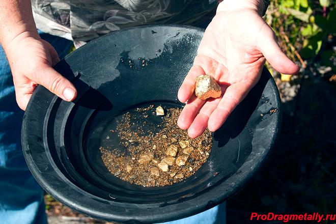 Самостоятельная добыча золота