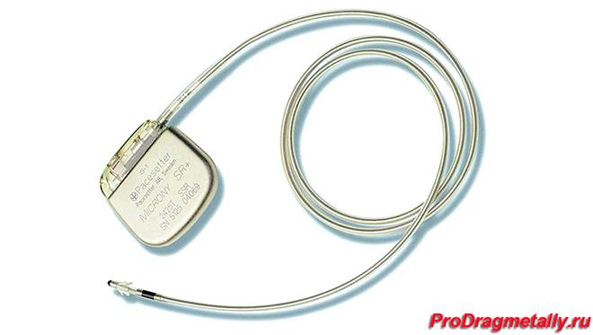 Палладий в составе кардиостимулятора