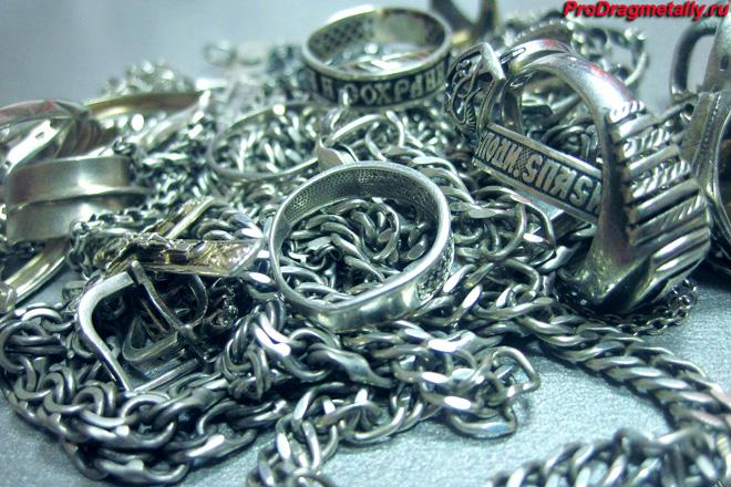 Серебряные цепи, кольца, серьги