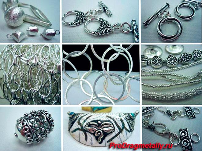 Изделия из стерлингового серебра