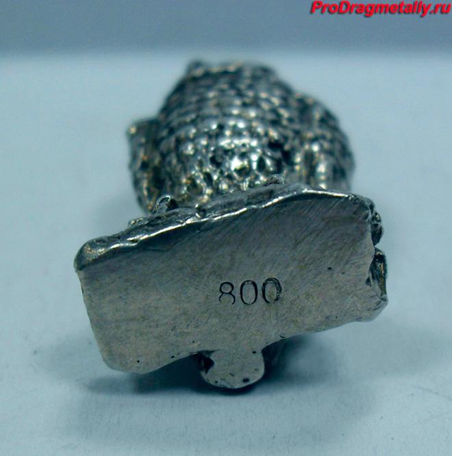 Серебряная статуэтка 800 пробы