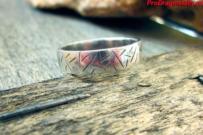 Серебряное оксидированное кольцо