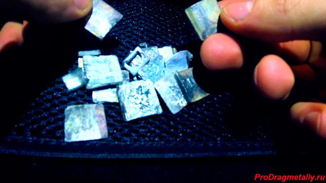 Пластины, содержащие техническое серебро