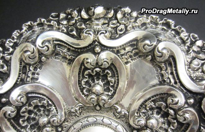 Красивая серебряная посуда